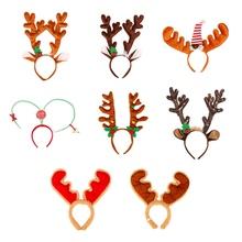 Boże narodzenie renifer z pałąkiem na głowę śliczne łosie jelenie rogi poroża reniferów opaski do włosów z pałąkiem na głowę kostium na przyjęcie bożonarodzeniowe dostawy oferty 1 tanie tanio Headbands