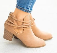 Ankle Boots for Women High Heels Shoes Plus Size Faux Suede Vintage Booties Luxury Designers Zapatos De Mujer C65
