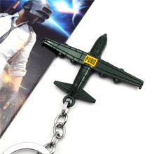 New Creative PUBG game peripheral key chain Air drop aircraft model key chain ring alloy pendant car bag key ring creative pubg key chainring pan metal key chain car pendant game key ring surrounding men s and women s small gifts