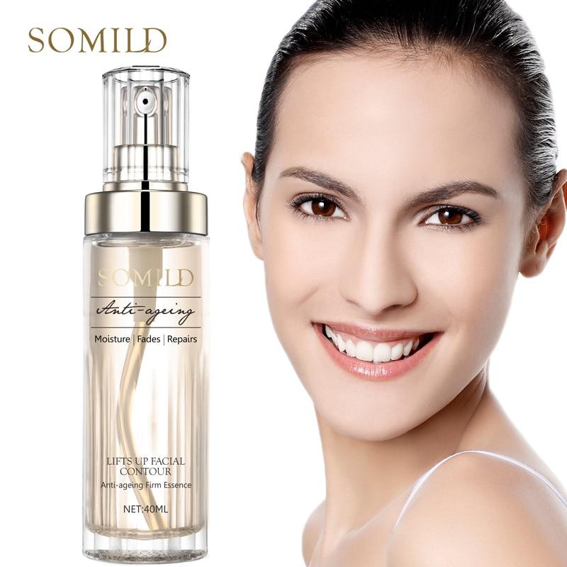 Somild vitamina e anti envelhecimento facial soro planta essência remover rugas linhas finas anti-oxidação firmando facail reparação essência
