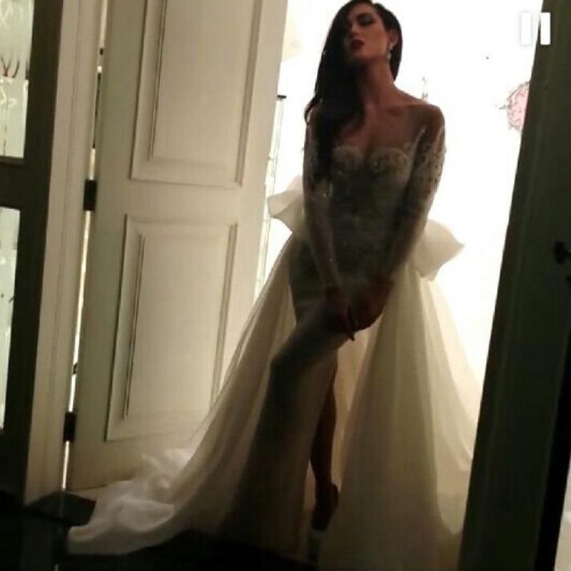 Sweetheart Neckline Sequins/Beads Sparking Side Slit Floor Length Evening Gown Robe De Soiree 2018 Mother Of The Bride Dresses