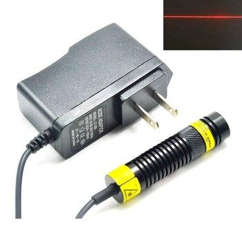 цена на 16mm Dia 650nm 200mW Red Laser Module Line Beam w Focusable DIY Head Mitsubishi Diode 5V Power Adapter