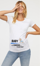 Women Maternity Clothing Pregnant T Shirt Funny Top Cute Baby Print O-Neck Short Sleeve Pregnant Tops Pregnancy Shirt