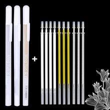 Marqueurs de peinture permanents, 0,7 mm, lot de 11 pièces/lot, stylos graffiti métalliques or argent blanc, pour écriture, fournitures d'art de dessin,,