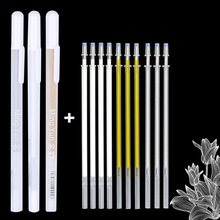11PCS/lot 0.7mm Paint Marker Permanent Marker Graffiti Metalic Marker Pens Gold Silver White Pen Writting Drawing Art Supplies