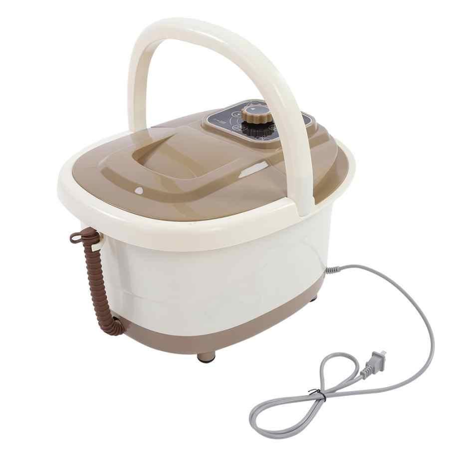 Portátil pé spa banho massageador bolha calor soaker vibração pedicure embeber banheira plugue da ue 220 v plástico