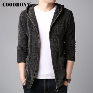 Image 1 - COODRONY Brand Sweater Men Autumn Winter Thick Warm Cashmere Wool Cardigan Men Streetwear Fashion Hooded Sweater Coat Men 91100