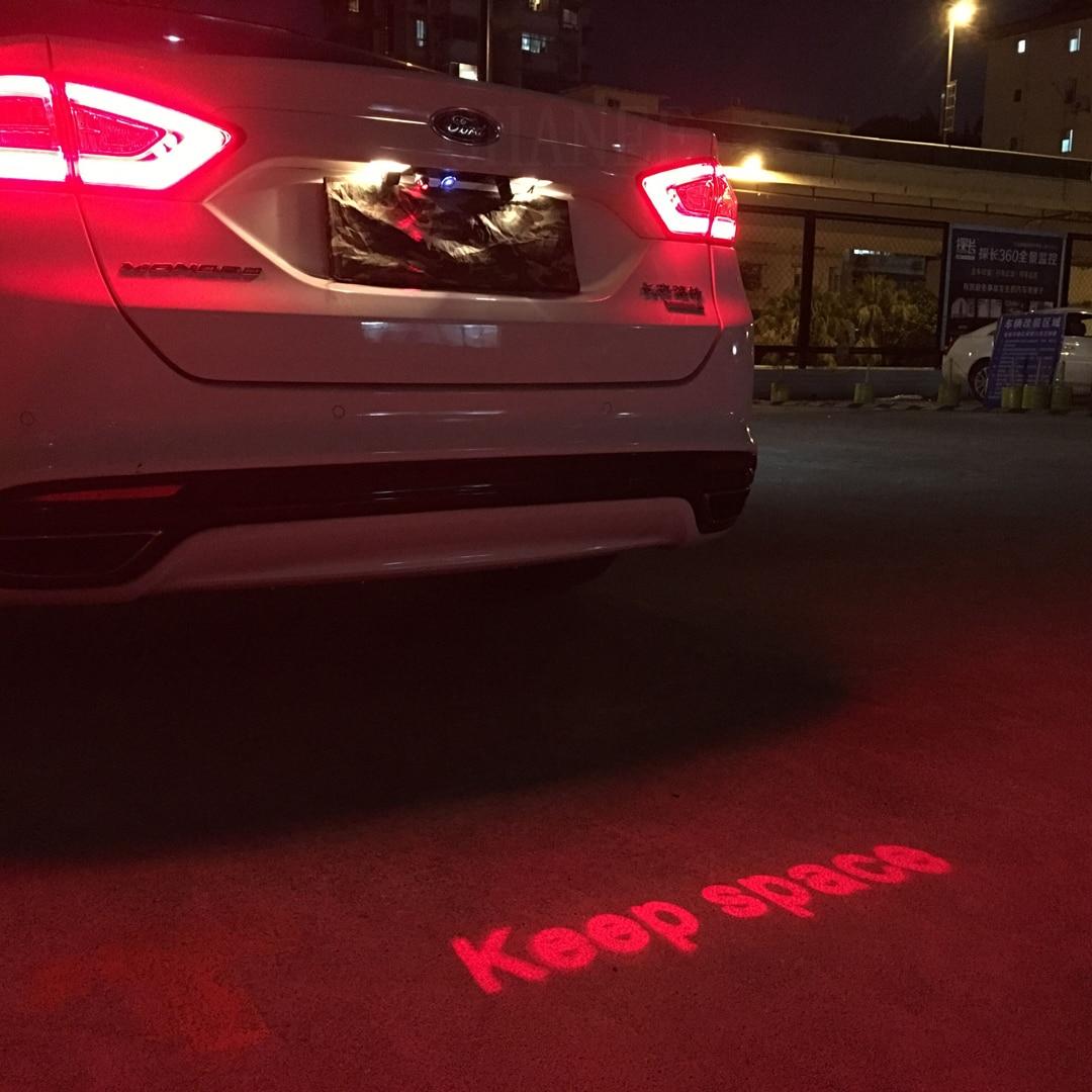 Auto Anti-kollision Laser Nebel Licht Auto Anti-fog Parkplatz Halten Raum Signal Indikatoren Motorrad LED Warnung Licht auto-Styling