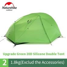 Natureigh-tente de Camping ultralégère pour 2 personnes, en Silicone, avec jupe de neige et tapis gratuit, 20D, NH17T012-T