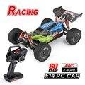 1:14 2.4g rc carro de corrida de controle remoto carro competição 60 km/h metal chassis 4wd elétrico rc brinquedos carregamento usb