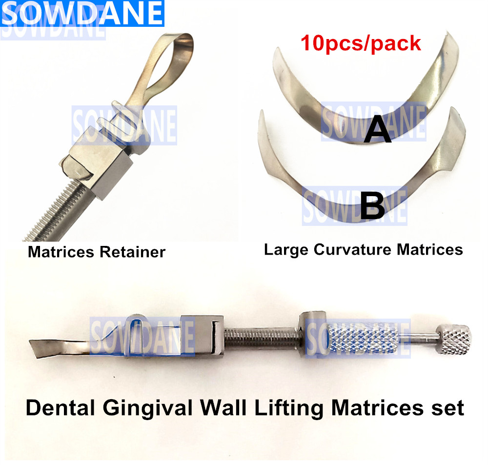 Dental Tofflemire Matrix For Gingival Wall Lifting Dental Large Curvature Matrices Retainer Sectional Contoured Matrice