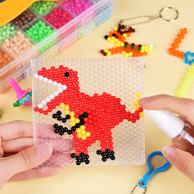 11000pcsMulticolor Magic Puzzle Toys Water Mist Bead Set DIY Craft Animal Handmade Sticky Beads Educational Toys Kids Good Gifts