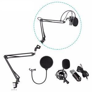 Image 1 - BM700 micro à condensateur professionnel Microfono + support de micro NB35 + support anti choc + dispositif de prévention des éruptions Microphone de Studio