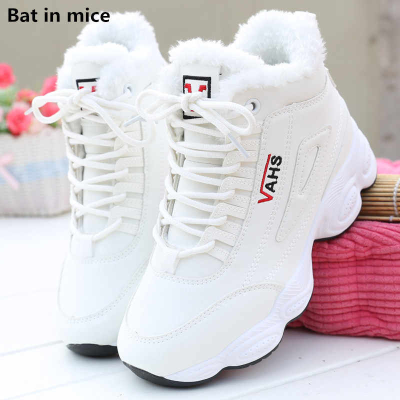 new women Casual warm snow boots women Female Round Toe Comfort flats lace-up outdoor walking boots shoes women boots mujer T736