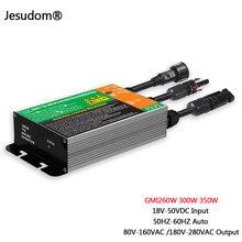 A série de gmi 260w 300w 350w mppt solar grid tie micro inversor impermeável DC18V-50V a AC110V-230V 50hz/60hz solar pv inversor