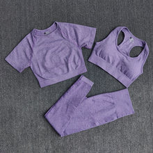 3 шт бесшовная женская спортивная одежда набор для йоги фитнеса