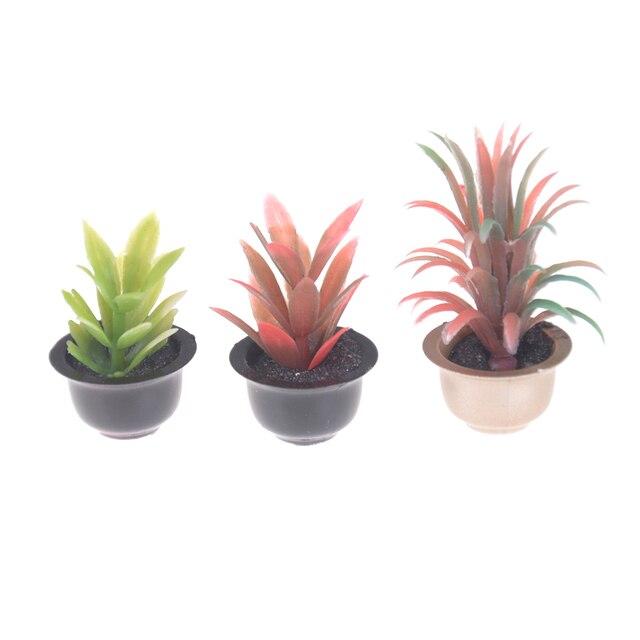 1:25 bricolage maison de poupée Micro paysage jardin en pot plante baignoire lavabo canapé ensemble thé Table maison de poupée Miniatures meubles jouet