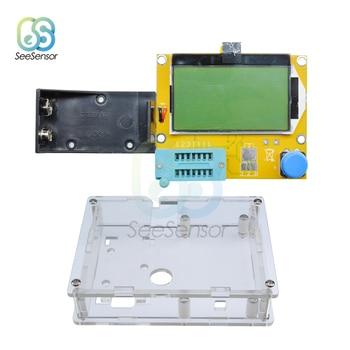 ESR Meter Mega328 Transistor Tester Multimeter Digital ESR-T4 Diode Triode Capacitance MOS/PNP/NPN LCR 12864 LCD Screen Tester
