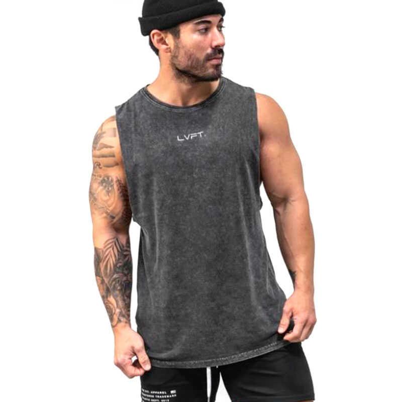 2020 년 여름 브랜드 의류 보디 빌딩 코튼 셔츠 피트니스 남성 탱크 탑 근육 조끼 스트링거 언더 셔츠 탱크 탑