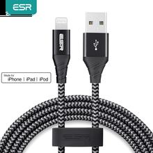 ESR MFI ברקים כבלים עבור iPhone SE 2020 11 X XS XR 8 7 בתוספת USB לברק מהיר טעינת כבלי 2.4A נתונים כבל 1M 2M