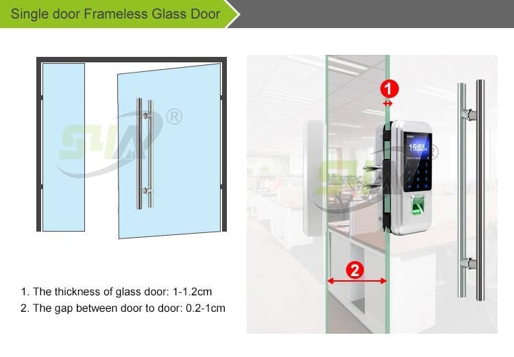 1.Single door Frameless Glass Door