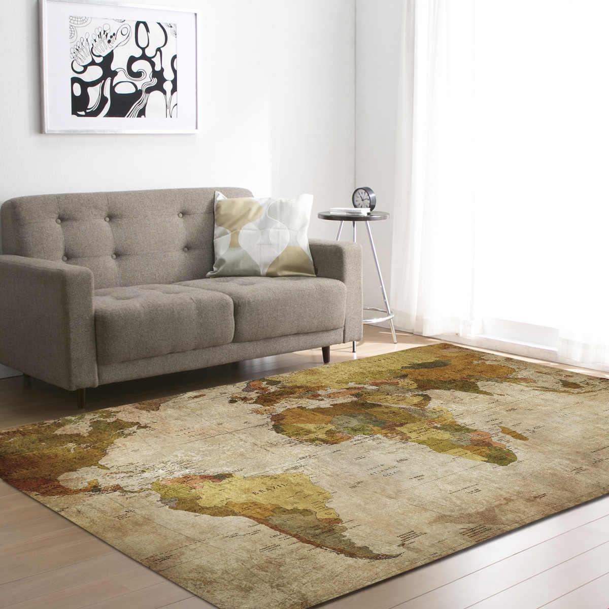 Area Rug Mat Soft Flannel Floor Decor