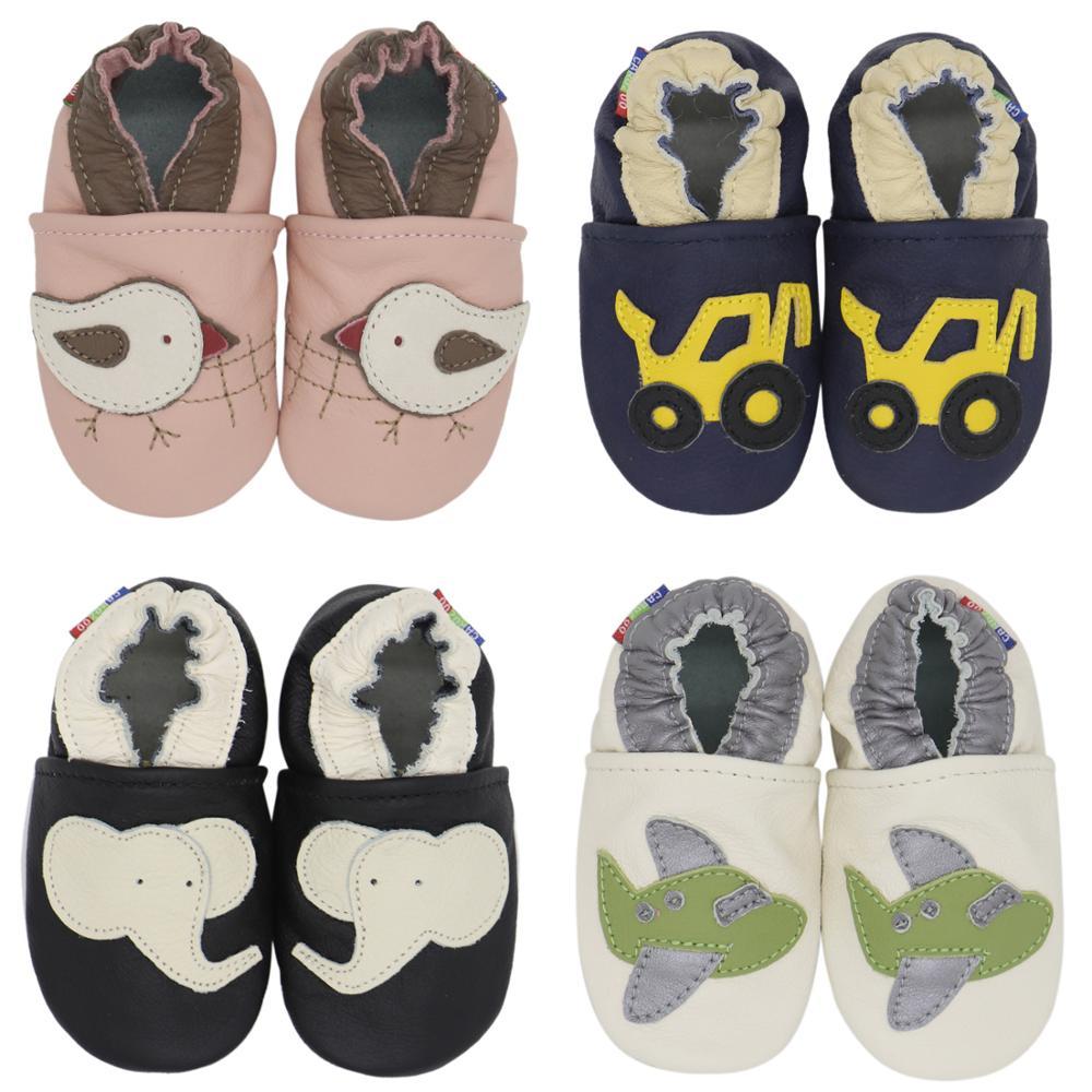 Carozoo adorável estilos bebê meninos primeiro walker sapatos de couro de vaca bebe sapatos