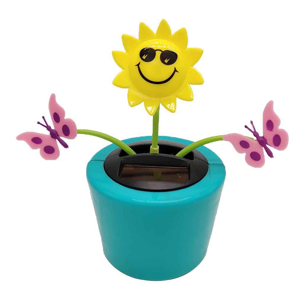 Solar Powered Shaking Doll Home Decor -  and Butterfly