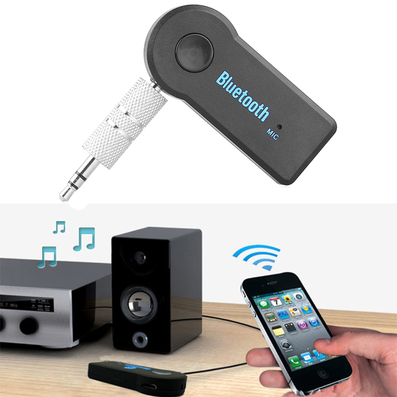 Wireless Bluetooth Car Kit Adapter Music AUX Mini Audio 3.5mm Jack Handsfree Auto Bluetooth Audio Adapter Receiver Transmitter