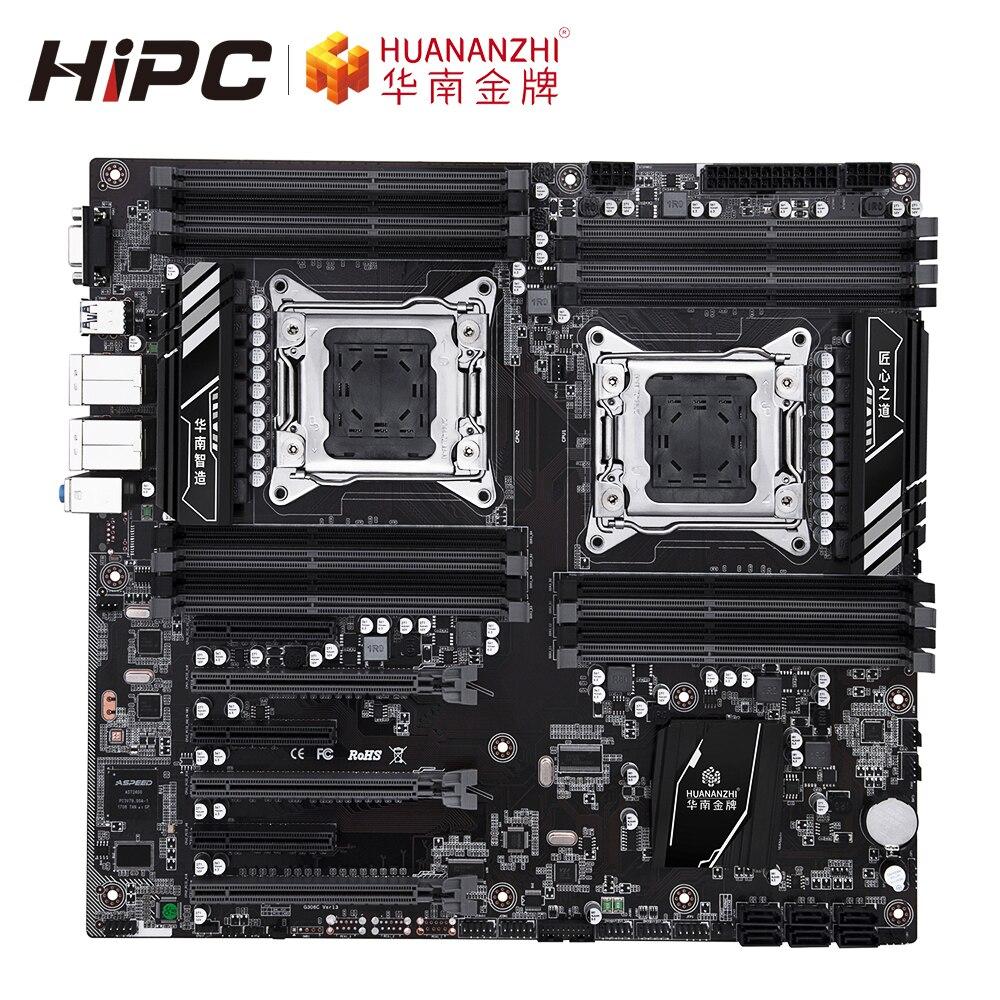 HUANAN ZHI X79-16D placa base Intel CPU Dual X79 LGA 2011 DDR3 512GB SATA3 USB3.0 E-ATX LGA2011 Placa de servidor Placa base de escritorio X58 LGA 1366 4 canales DDR3 32GB RAM para Intel E5520/L5520 X5650 Core I7