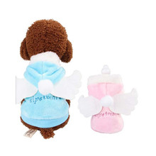 Fashion Pet Dog Clothes Angel Wings Winter Warm Velvet Comfortable Small Coat Jacket Puppy Outfit Supply Decorations