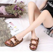 Women's Summer Beach Cork Slippers Double Buckle Non-slip Clogs Slides Woman Flip Flops Ladies Sandals Home Shoes Large Size(China)