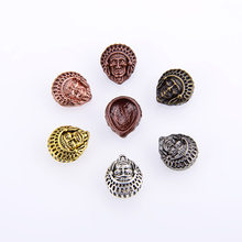 10PCS/packsge DIY Skull Metal Bracelet Connector Charm Beads Mysterious Pharaoh Mask Spacer For Jewelry Making