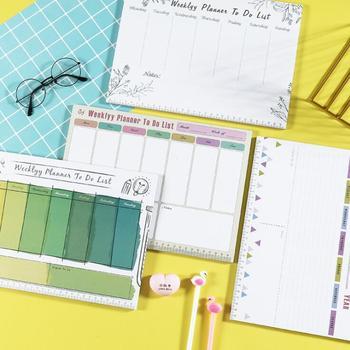 2020 el más nuevo hecho 54 hojas A4 semanal organizador Memo Pad nota Pad a diario para hacer lista cuaderno planificador Colegio papelería de oficina