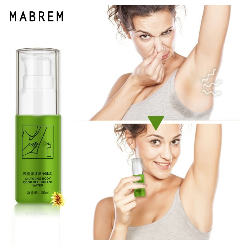 20ml Natural Body Odor Deodorant Water Removal Hyperhidrosis Cleaner Antiperspirant Armpit Sweat Spray Bad Smell Eliminate