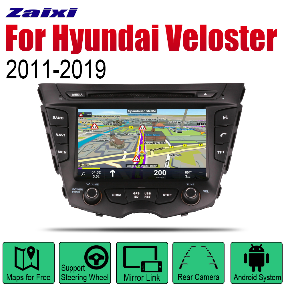 <font><b>Android</b></font> Car GPS Navigation For Hyundai Veloster 2011~2019 Radio Stereo DVD Bluetooth wifi <font><b>2din</b></font> Car Radio Stereo Multimedia image