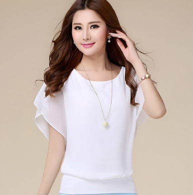 Summer Casual Short Sleeve Women Blouse 5XL Plus Size Chiffon Blouses Beach Shirt Office Work Loose Shirts Blusas Feminina Tops 5