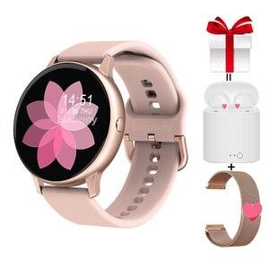 Смарт-часы DT88 Pro + ремешок + наушники, полностью сенсорные Смарт-часы для женщин, кровяное давление, кислород для Samsuang Huawei Xiaomi Phone VS SG2