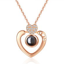 The Evening Of Seventh Moon Gift Trill 100 Species Language Necklace Projection Peach Beloved Love Clavicle Chain Woman Boho