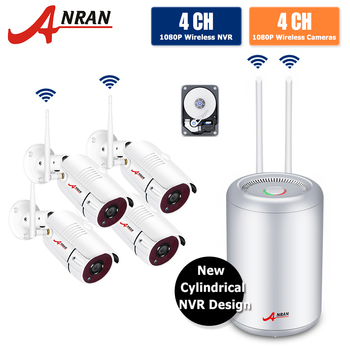 ANRAN 1080P HD Wireless NVR Kit P2P Security System Indoor Outdoor IR Night Vision Security 2.0MP IP Camera Wireless CCTV System 6 led night vision 1 2g 380tv lines wireless mini camera receiver combo security cctv wireless camera system 1 2ghz
