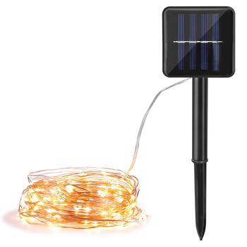 8 trybów LED zewnętrzna lampa solarna łańcuchy świetlne 10M 20M 30M wróżka świąteczna girlanda na przyjęcie Solar Garden IP65 wodoodporna lampa tanie i dobre opinie Dfiolk CN (pochodzenie) ROHS Z certyfikatem VDE Światła uliczne 50000H DO DEKORACJI IP55 NICKEL W nagłych wypadkach Żarówki LED