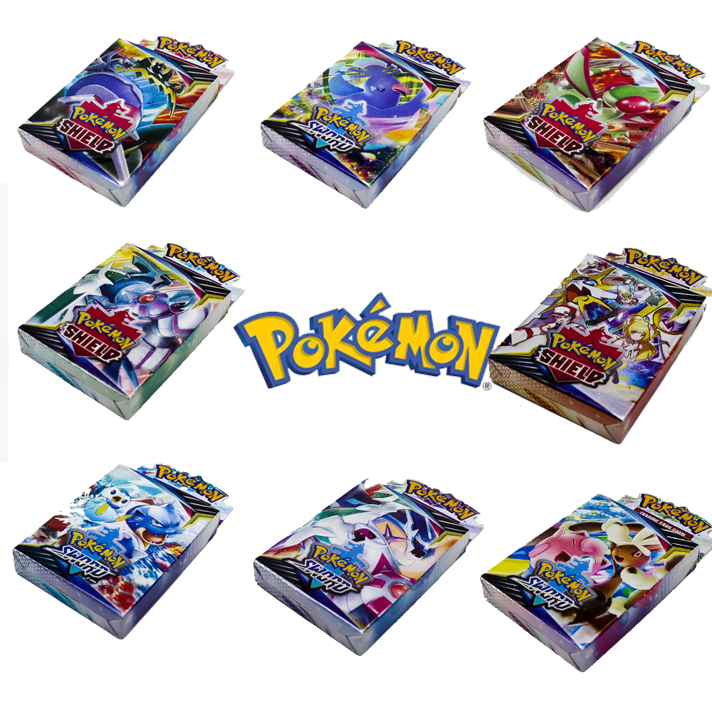 25PCS Pokemon GO Cards GX TRAINERS TGA TEAM BREAK 3D Flash Card SWORD & SHIELD Grookey Scorbunny Collectible Gift Kids Toys image