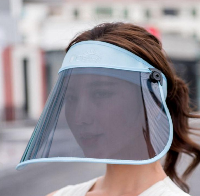 Anti Virus BIG Mask Transparent Splash-proof Full Face Shield Screen Protective Face Cover Mask Virus Protect Anti Saliva Shield