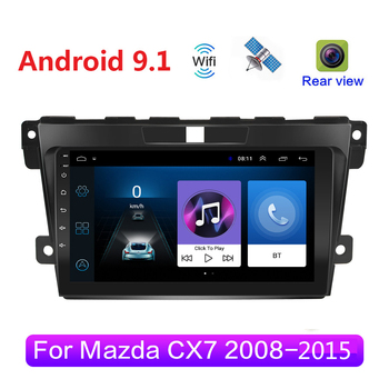 Android 9.1 Car Radio Multimedia Video Player Navigation For Mazda Cx-7 cx7 2008 2009 2010 2011 2012 2013 2014 2015 GPS 2din image