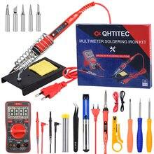 Электрический паяльник qhtitec с ЖК дисплеем и регулировкой