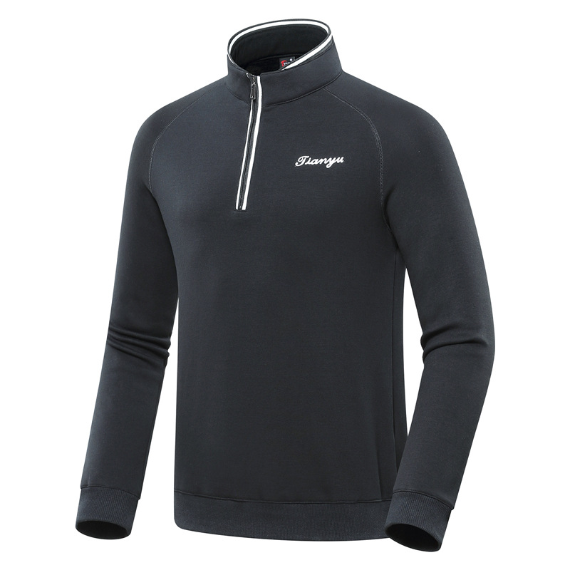 <font><b>Winter</b></font> Golf <font><b>Shirts</b></font> <font><b>Men's</b></font> Long Sleeve Keep Warm Golf Tops Male <font><b>Fur</b></font> Fleece Sportswear Fit Muscle Golf Clothing D0655 image