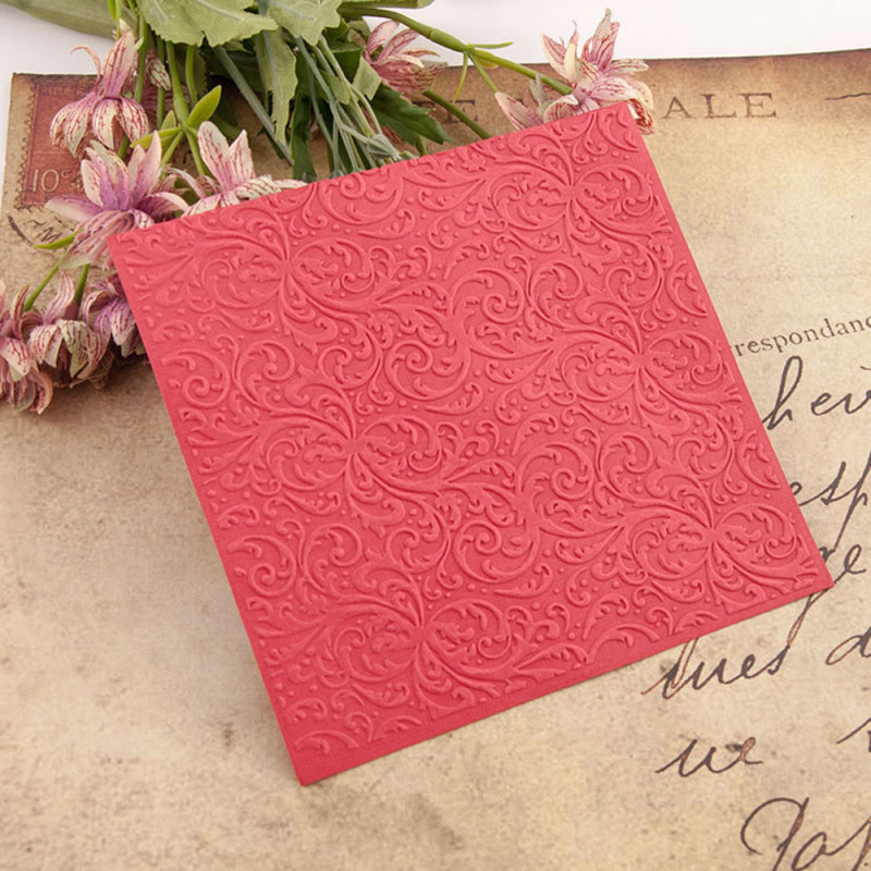 15x15cm Flower Lace Embossing Folders Plastic For Scrapbooking DIY Template Christmas Photo Album Card Making