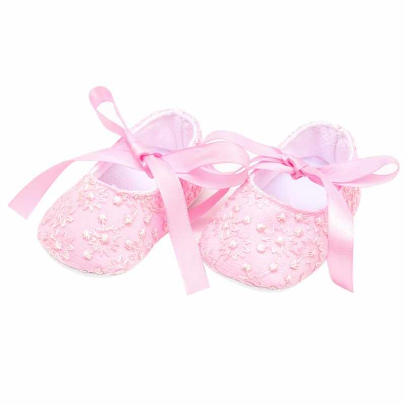 תינוק ראשון ווקר נסיכה ורוד לבן עריסה נעלי תינוקות פעוט בנות רך Prewalker 0-18M