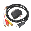 Аудиокабель «папа» с S-видео на 3 RCA AV с переходником SCART на 3 RCA Phono 1080P HDMI-совместимый к RCA кабелям соединительные аксессуары