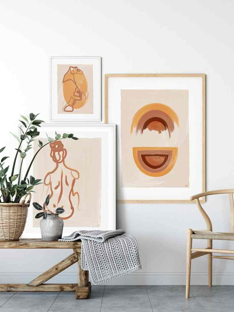 Boho Bedroom Gallery Wall Set Art Wall Art Canvas Painting Nordic Poster And Prints Wall Pictures For Home Decor Bilder Cuadros Painting Calligraphy Aliexpress